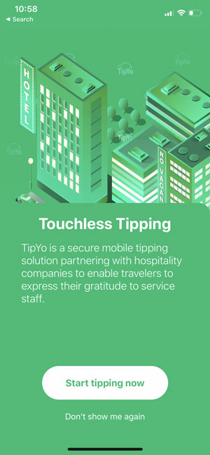 Open the TipYo App