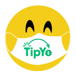 Smiley face wearing TipYo mask